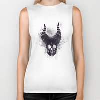 maleficent Biker Tanks featuring maleficent  by jerbing