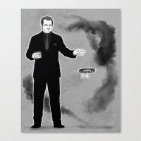 crowley Canvas Prints featuring Crowley by Alatherna