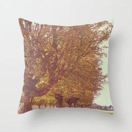 Avenue of Trees Throw Pillow
