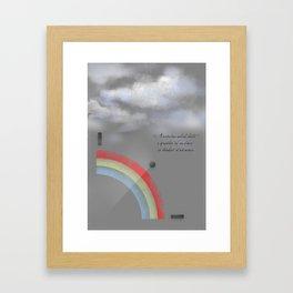 A quarter rainbow Framed Art Print