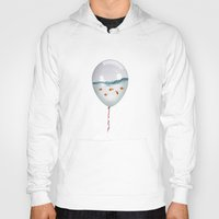 surrealism Hoodies featuring balloon fish by Vin Zzep