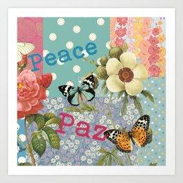 Peace Paz Pax Pace Art Print