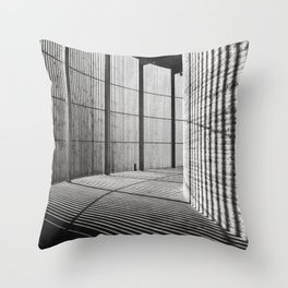 Chapel of Reconciliation in Berlin - analog Throw Pillow