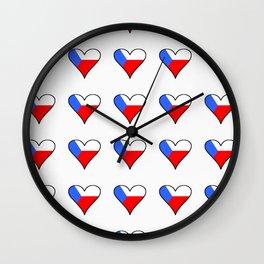 flag of Czech 4 -Czechia,Česko,Bohemia,Moravia, Silesia,Prague. Wall Clock