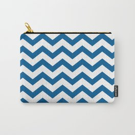 Navy Chevron Carry-All Pouch