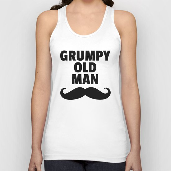 Grumpy Old Man Funny Quote Unisex Tank Top