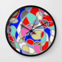 Stain Glass Abstract Meditation Painting 1 Wall Clock