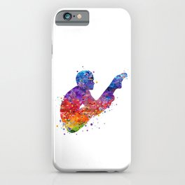 Springboard Diver Boy Colorful Watercolor iPhone Case