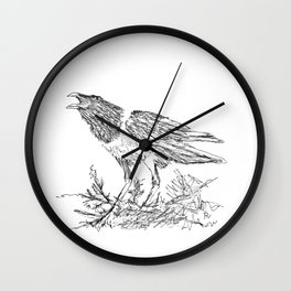African Crow - Ria Loader Wall Clock