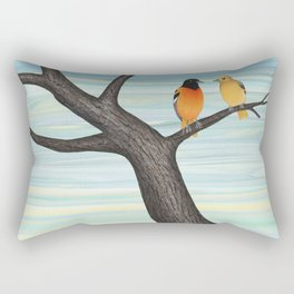 Orioles and daffodils Rectangular Pillow