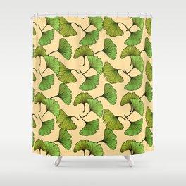 Ginkgo Leaf - Cream Shower Curtain