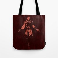 lee pace Tote Bags featuring Requiescat in Pace by Canis Picta