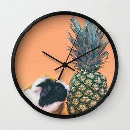 Hamster pineapple Wall Clock