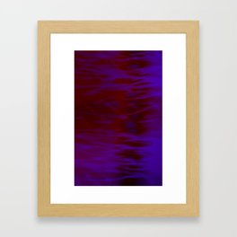 Red and Blue Abstract Framed Art Print