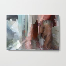datamosh shower Metal Print