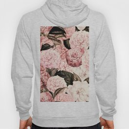 Vintage & Shabby Chic Pink Floral camellia flowers watercolor pattern Hoody