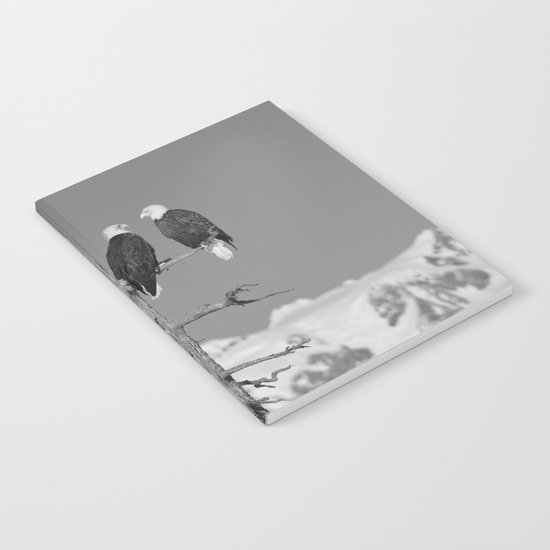 Perched With A View Duo - B & W Notebook