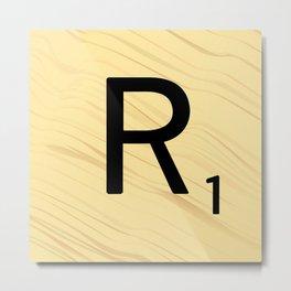 Scrabble R - Large Scrabble Tile Letter Metal Print