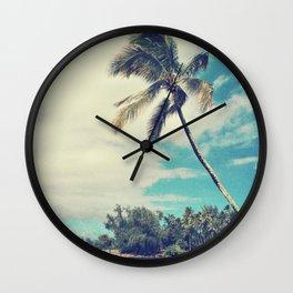 Vintage Tropics Wall Clock