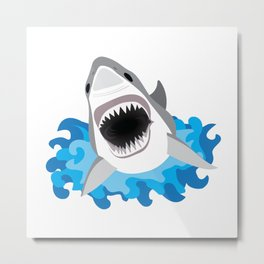 Shark Attack #2 Metal Print