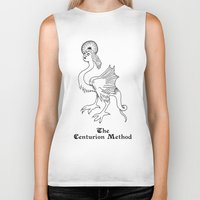 fitness Biker Tanks featuring Luciferian Fitness Militia by The Centurion Method
