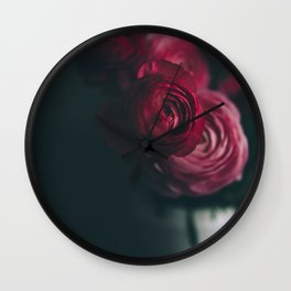 Red Ranunculus Wall Clock