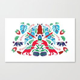Jurassic Folk Canvas Print