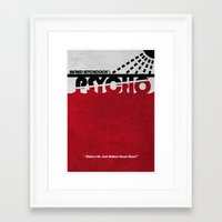 psycho Framed Art Prints featuring Psycho by Ayse Deniz