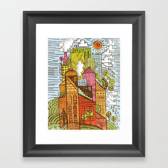 BUILD UP  Framed Art Print