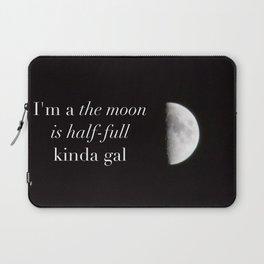 Half-full moon Laptop Sleeve
