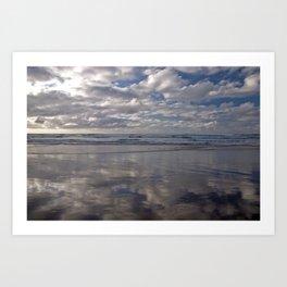 Nature photography. San Vicente de la Barquera Beach, Cantabria. Spain Art Print