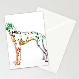 Watercolor dalmatian Stationery Cards