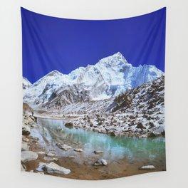 Mount Nuptse view and Mountain landscape view in Sagarmatha National Park, Nepal Himalaya. Wall Tapestry