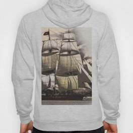 sailing ship vintage Hoody