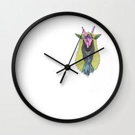 Crystal Earth Mountain Goat Wall Clock