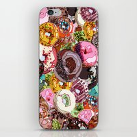 donuts iPhone & iPod Skins featuring Donuts by Tina Mooney