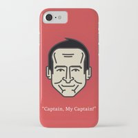 "robin williams iPhone & iPod Cases featuring ROBIN WILLIAMS - ""Captain, My Captain!"" by Gerardo Lisanti"