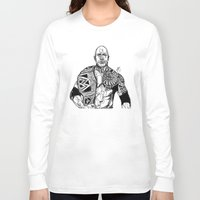 allyson johnson Long Sleeve T-shirts featuring Dwayne 'The Rock' Johnson by Hollie B