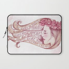She Walks in Beauty Laptop Sleeve
