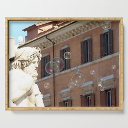 Bernini's Four Rivers Fountain Serving Tray
