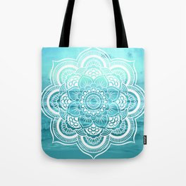 Mandala : Aqua Sunset Waters Tote Bag