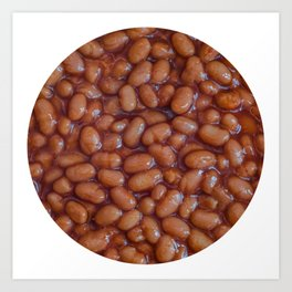 Baked Beans Pattern Art Print