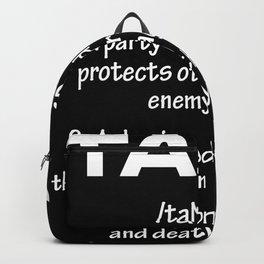 Healer Definition Gamer Backpack