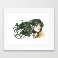 fairy Framed Art Prints featuring Fairy by Courtney Godbey
