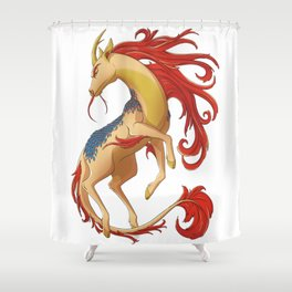 Mythical Creature: Kirin Shower Curtain