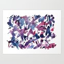 Abstract Blue and Magenta Pattern by waterandchalk