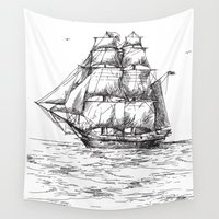 marine Wall Tapestries featuring marine by ismailburc