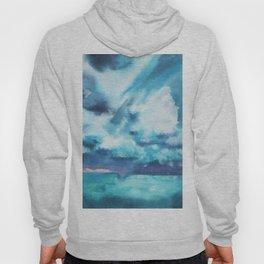 Watercolor blue sea Hoody