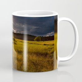 Breathtaking sunset above meadow Coffee Mug