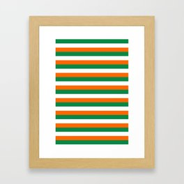 ireland ivory coast miami niger flag stripes Framed Art Print